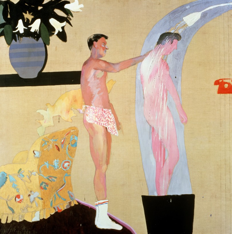 Domestic Scene, Los Angeles 1963 Oil paint on canvas 1530 x 1530 mm Private collection © David Hockney