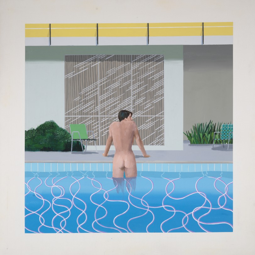 Peter Getting Out of Nick's Pool 1966National Museums Liverpool, Walker Art Gallery. Presented by Sir John Moores 1968 © David Hockney Photo Credit: Richard Schmidt