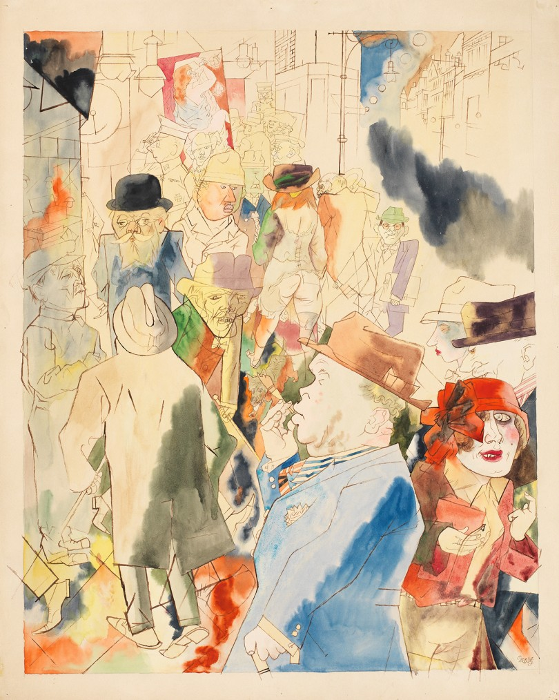 George Grosz  (1893–1959) Streetscape, Kunstmuseum Bern,  Bequest of Cornelius Gurlitt 2014,  Provenance undergoing clarification /  Currently no indications of being looted art Estate of George Grosz, Princeton, N.J. VG Bild-Kunst, Bonn 2018