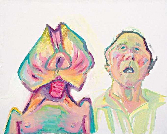 Maria Lassnig, Zwei Arten zu sein (Doppelselbstporträt) [Two Ways of Being (Double Self-portrait)], 2000 © Maria Lassnig Foundation